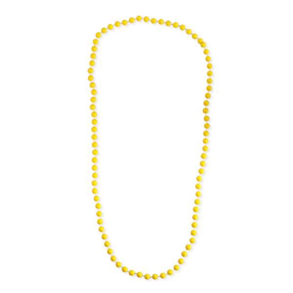collier de perles jaunes