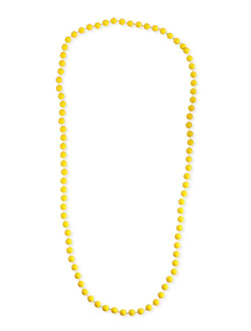 Collier long perles                                                                  jaune