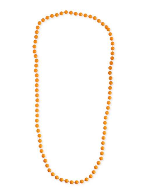 Collier long perles                                                                  orange