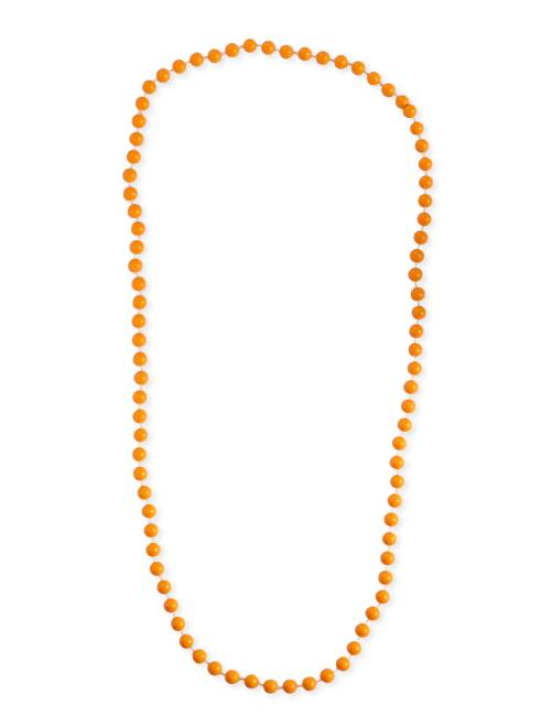 Collier long perles                                                                  orange Femme