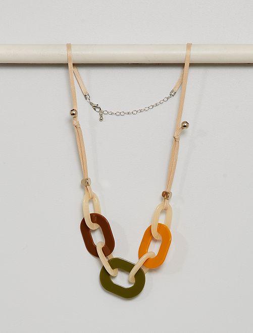 Colliers avec anneaux                             multicolore