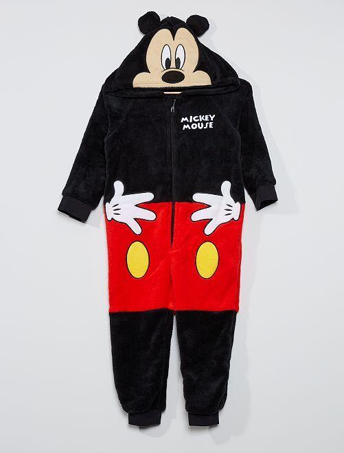 Combinaison à capuche 'Mickey'                             noir/rouge
