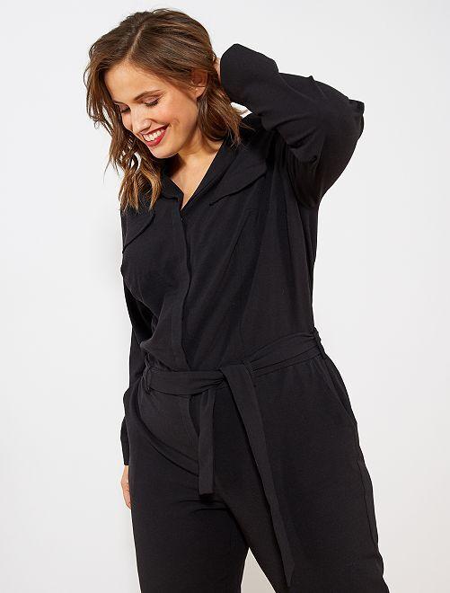 Combinaison col pyjama                                         noir