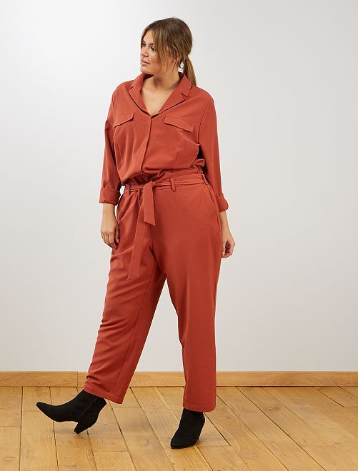 Combinaison col pyjama                                         rouille