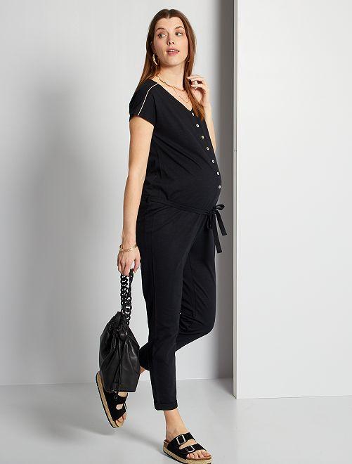 Combinaison de maternité éco-conçue                                         noir