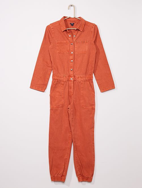 Combinaison denim colorée                                                     orange