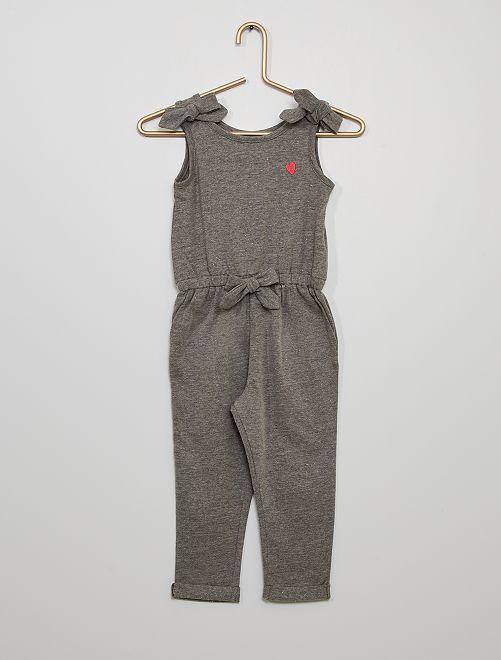 Combinaison en jersey                             gris