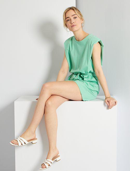 Combinaison en jersey                     vert pastel