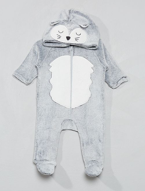 Combinaison en polaire                                                                 gris renard Bébé fille