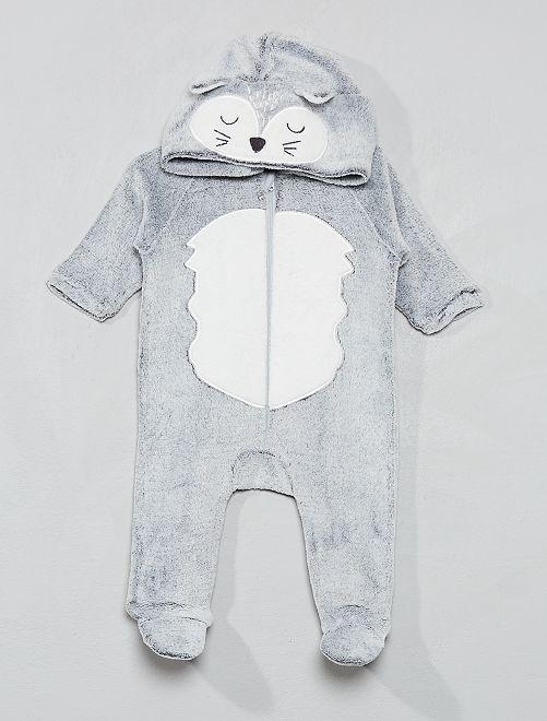 Combinaison en polaire                                                                 gris renard