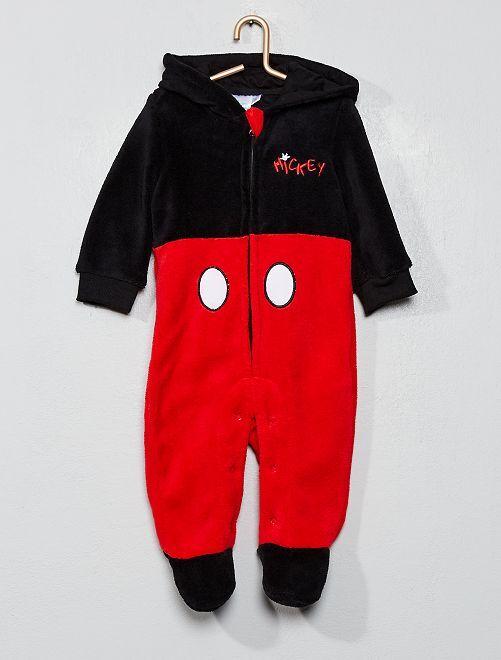 Combinaison en polaire 'Mickey'                             noir/rouge
