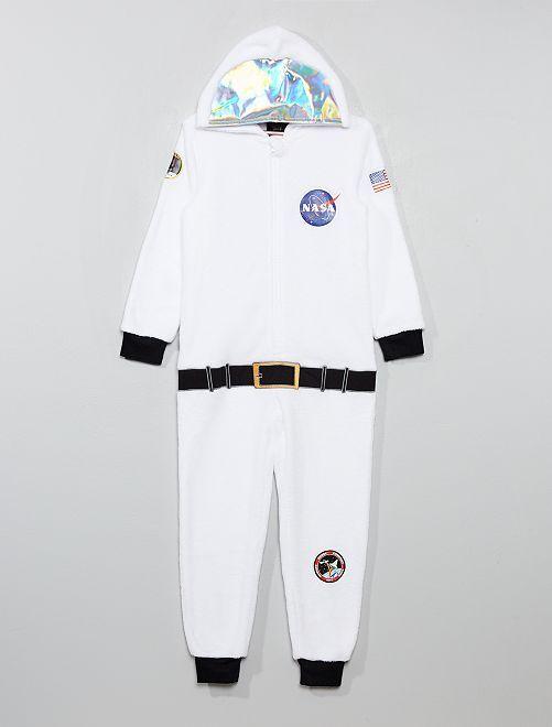 Combinaison en polaire 'NASA'                             blanc