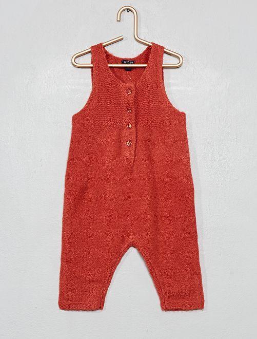 Combinaison en tricot                                         rose