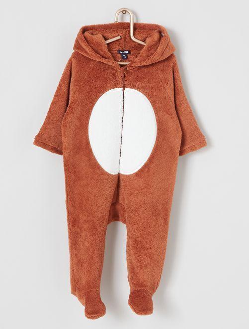 Combinaison maille peluche                                                                 marron renard