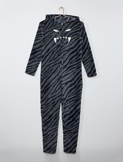 Combinaison onesie polaire 'tigre'                             gris