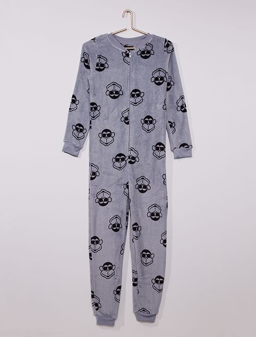 Combinaison onesie 'singe'                     gris