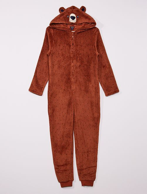 Combinaison 'ours'                                         marron