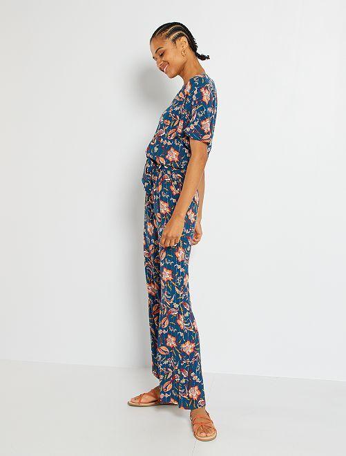 Combinaison pantalon fleurie                                                                 bleu