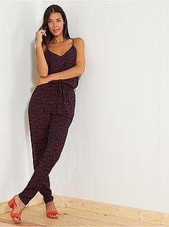 Femme du 34 au 48 - Combinaison pantalon fleurie - Kiabi
