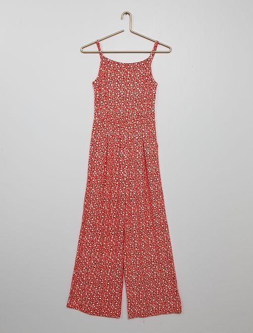Combinaison pantalon 'fleurie'                                         rouge
