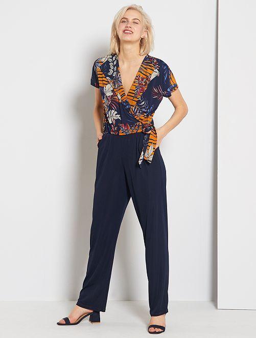 Combinaison pantalon imprimé                     bleu