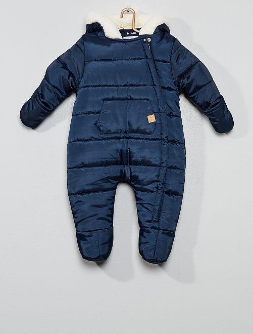 Combinaison pilote doudoune chaude                             bleu marine Bébé garçon