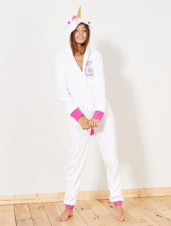 Combinaison pyjama licorne - Kiabi