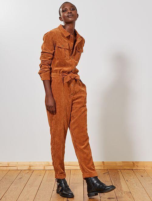 Combinaison velours côtelé                                 marron