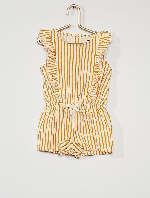 Combishort à motifs                                             rayé jaune