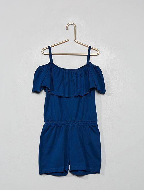 Combishort bardot                                                                 bleu marine