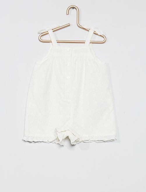 Combishort broderie anglaise                             écru