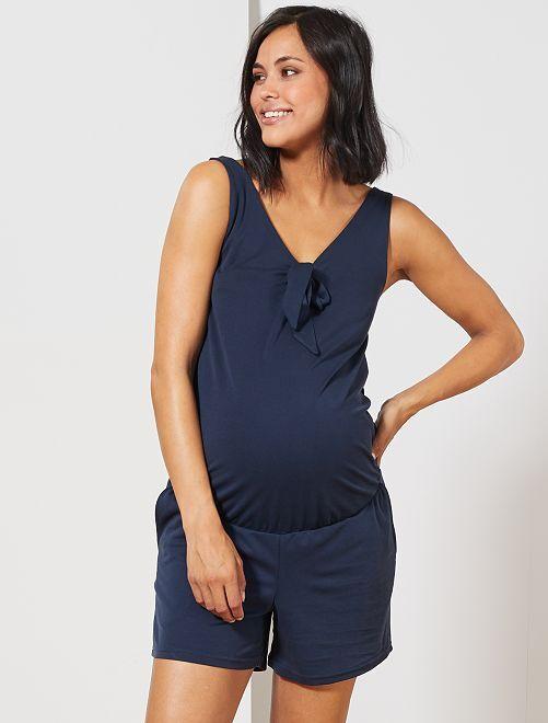 Combishort de grossesse                             bleu marine Vêtement de grossesse