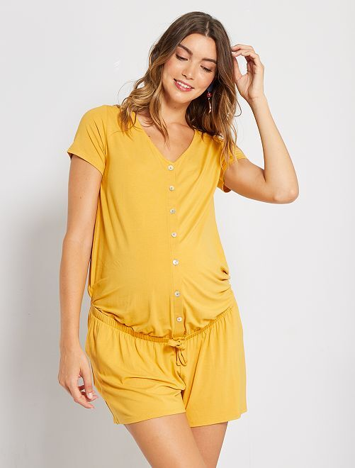 Combishort de maternité                                         jaune