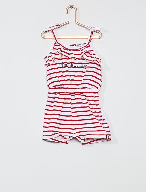 Combishort 'Little Marcel'                                         blanc/rouge