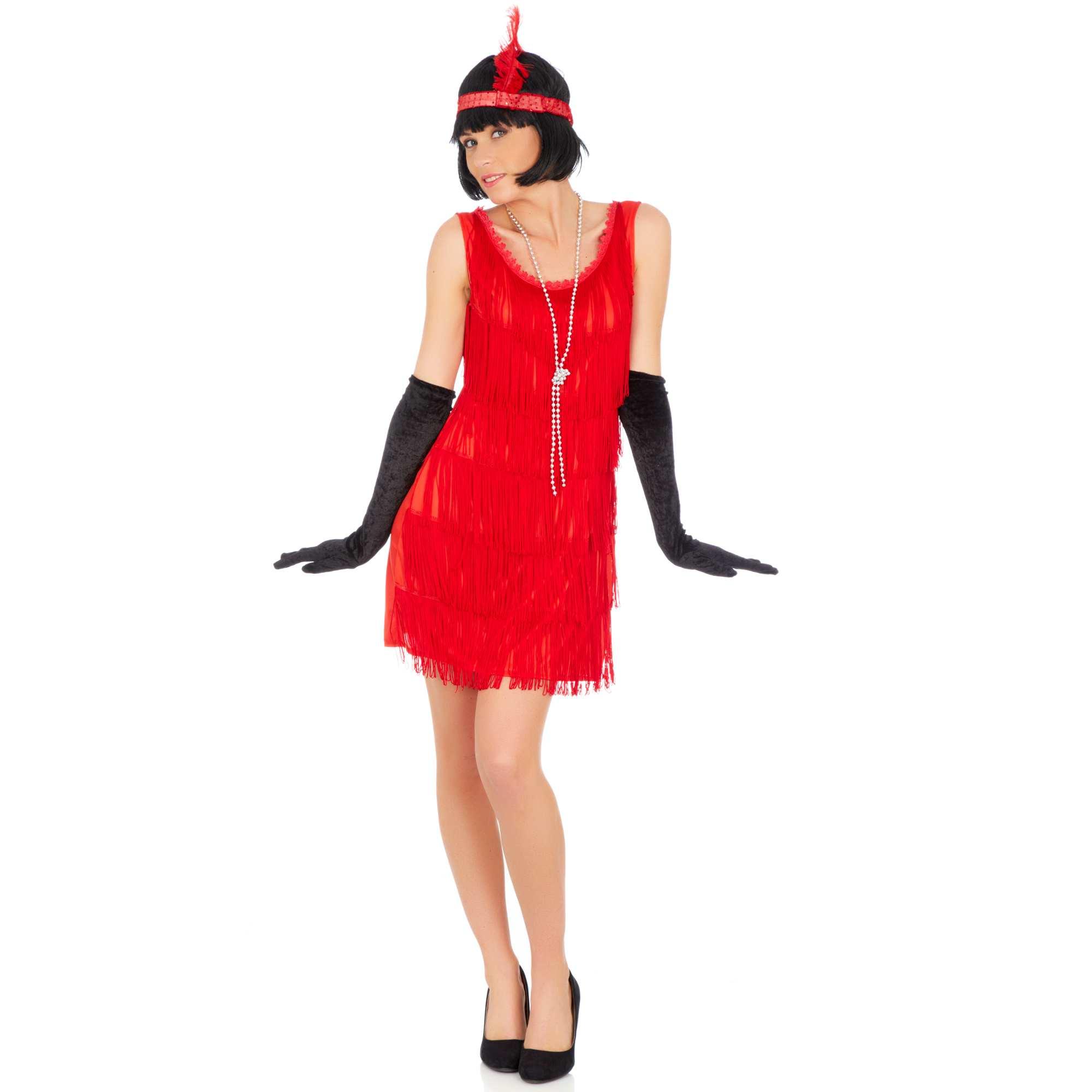 costume charleston femme rouge kiabi 18 00. Black Bedroom Furniture Sets. Home Design Ideas