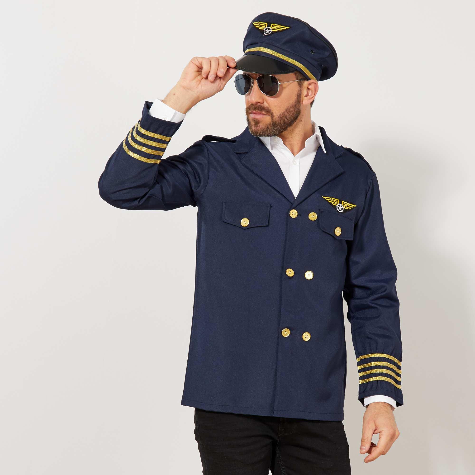 Couleur : bleu marine, , ,, - Taille : TU, , ,,Les dames craqueront les premières pour vous grâce au costume de pilote de l'air, à la