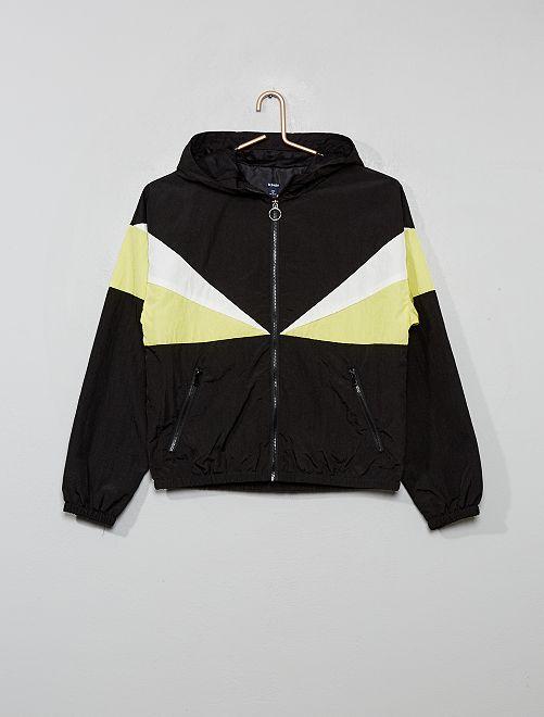 Coupe-vent color bloc                                         noir
