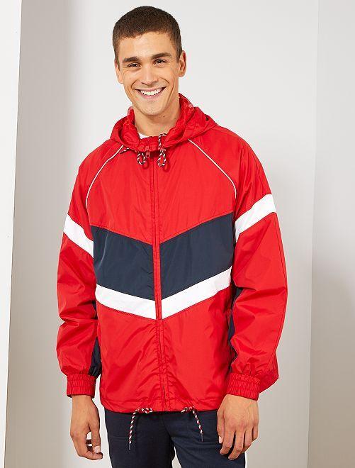 Coupe-vent color block                                                                 rouge/bleu marine/blanc Homme