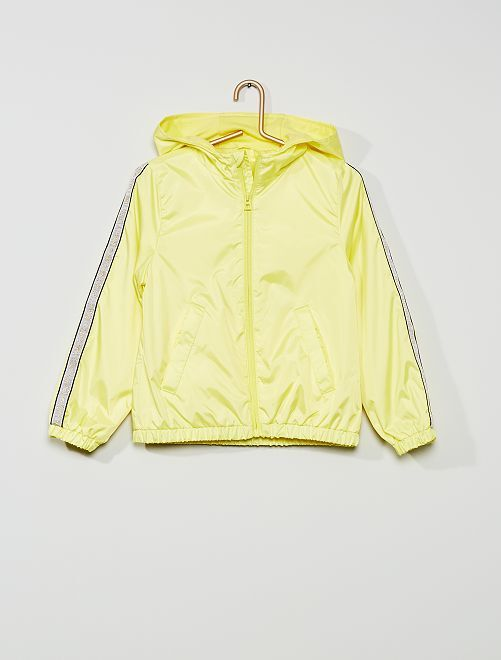 Coupe-vent doublé à bandes pailletées                                                     jaune