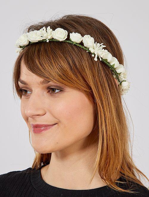 Couronne de fleurs                             blanc Femme