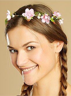Déguisement femme - Couronne de fleurs - Kiabi