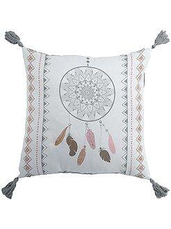 Déco textile - Coussin carré imprimé 'attrape-rêves' - Kiabi