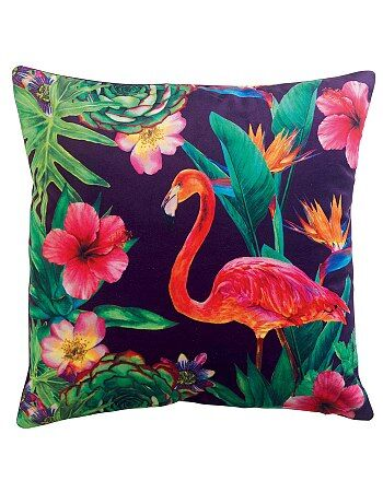 Coussin 'flamant rose'