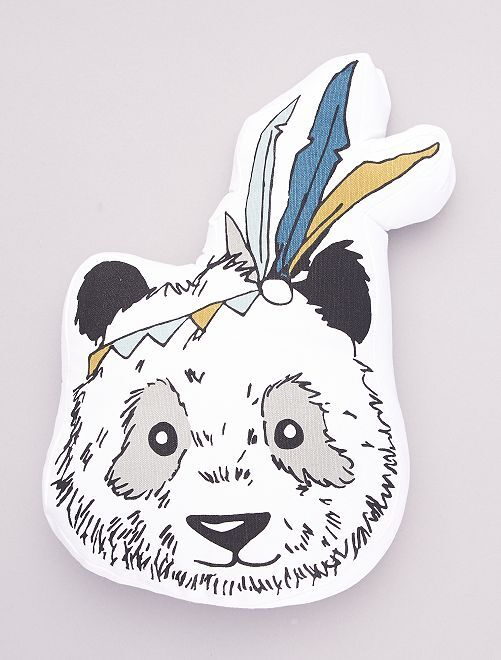 Coussin forme 'panda'                             blanc
