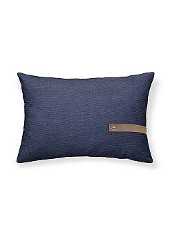 Coussin rectangulaire en chambray - Kiabi