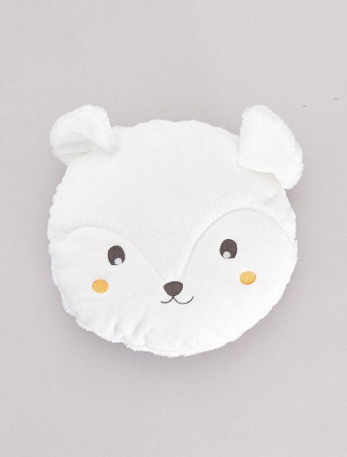 Coussin rond 'tête d'animal'                                         blanc Linge de lit