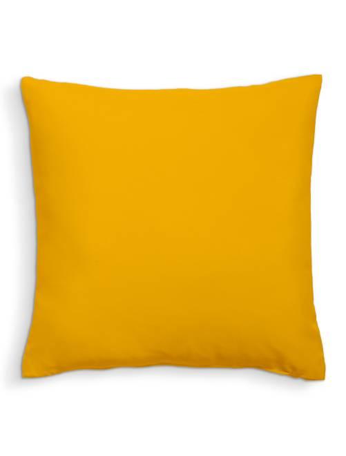 Coussin uni déhoussable                                                                                         jaune