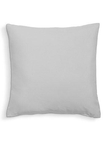 Product Couleur : blanc, zin, fushia,gris,rouge - Taille : TU, , ,,Habillement Maison / Maison / Déco textile / Coussin  On met de la couleur dans son intérieur ! - Coussin uni déhoussable par zip -  KIABI
