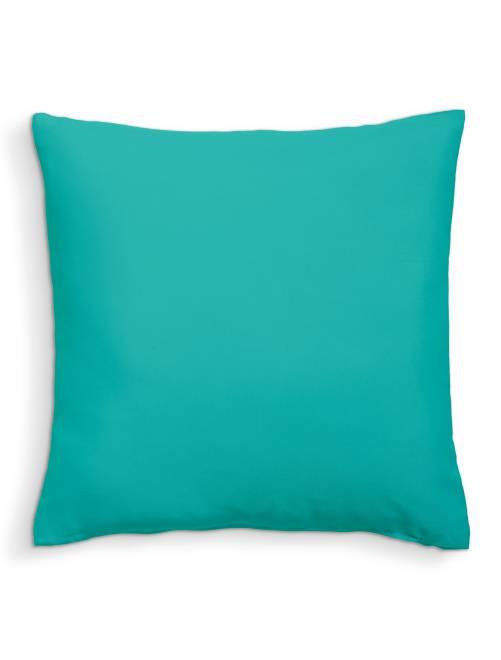 Coussin uni déhoussable                                                                                                     turquoise Linge de lit