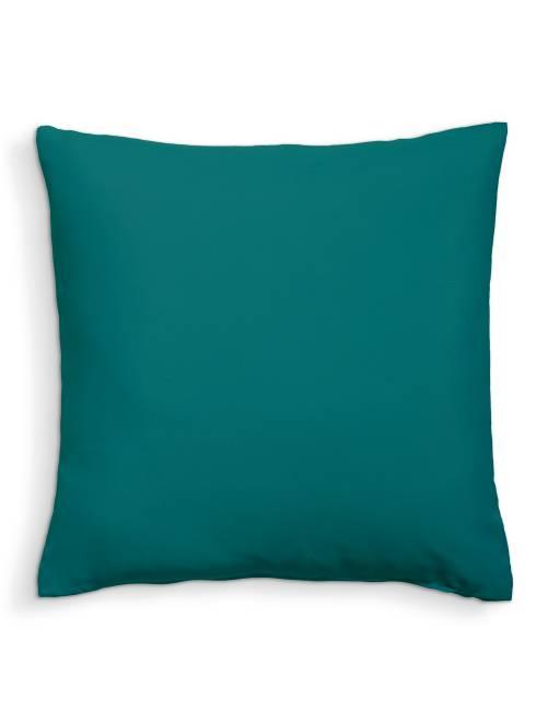 Coussin uni déhoussable                                                                                                     vert émeraude Linge de lit